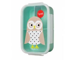 3 Sprouts, Lunch Bento Box, Φαγητοδοχείο με Χωρίσματα, Owl, 1τμχ.
