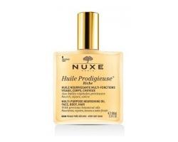 NUXE Huile Prodigieuse® Riche Πολυχρηστικό θρεπτικό λάδι για πρόσωπο σώμα & μαλλιά 100ml