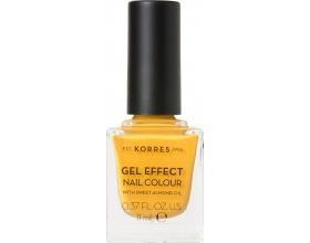 Korres Gel Effect Nail Colour 91 Sunshine Βερνίκι νυχιών με υφή gel που προσφέρει λάμψη, μέγιστη διάρκεια και ημιμόνιμο αποτέλεσμα 11ml