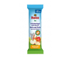 Holle, Βιολογική Παιδική Μπάρα Μήλο-Μπανάνα, 12m+, 25gr.