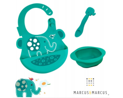 Marcus &Marcus Baby Feeding Set, Σέτ Φαγητού από Φαρμακευτική Σιλικόνη, Ollie, MNMLS06-EP, 3μχ.