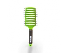 Beauty Spring Dentangling Brush Vent Μεγάλη Βούρτσα Μαλλιών Αέρος Ξεμπερδέματος Χρώμα Πράσινο, 1τμχ