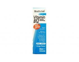 Health Aid VITAMIN B12 Σπρέι Μαζί με βιταμίνες Β2, Β6, C & Φολικό οξύ 20ml