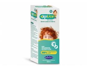 ADELCO Exolice Αποτελεσματική εξάλειψη και αγωγή κατά ψείρας και κόνιδας 120ml