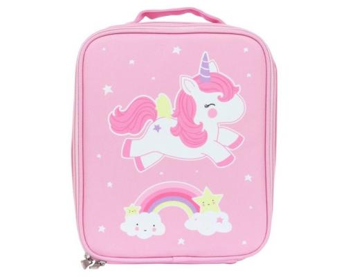 A Little Lovely Company, Ισοθερμική Τσάντα Φαγητού, Unicorn, Χρώμα Ροζ, 1τμχ.