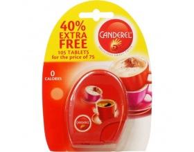 CANDEREL Φυσικό γλυκαντικό με μηδέν θερμίδες ανά ταμπλέτα ιδανικό υποκατάστατο ζάχαρης x100 tab 40% EXTRA FREE
