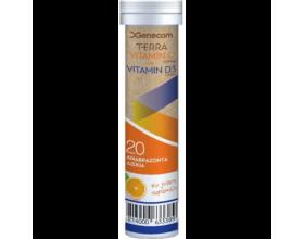 Genecom Terra Vitamin C + Vitamin D3 με Γεύση Πορτοκάλι, 20eff. tabs