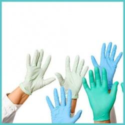 Γάντια νιτριλίου λάτεξ