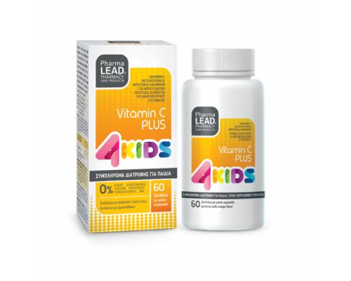 Vitorgan Pharmalead Vitamin C Plus 4 Kids Παιδικό Συμπήρωμα Διατροφής με Βιταμίνη C, 60Ζελεδάκια