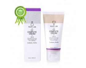YOUTH LAB, CC Complete Cream SPF 30 Oily Skin,Καλυπτική σύνθεση ολικής αναδόμησης με αντιηλιακή προστασία για το λιπαρό δέρμα, 50ml