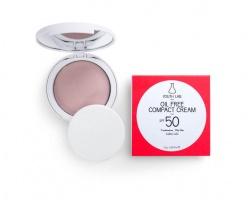 Youth Lab, Oil Free Compact Cream Spf 50, Μικτό - Λιπαρό δέρμα, Χρώμα Medium, 10gr
