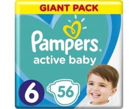 Pampers Πάνες Active Baby Giant Pack, Μέγεθος 6, 13-18Kg, 56 Πάνες.