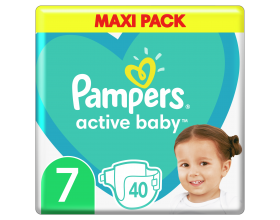 Pampers, Active Baby Giant Pack No 7 15+kg, 40 Πάνες.