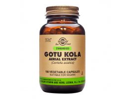 Solgar Standardised Gotu Kola Aerial Extract Συμπλήρωμα Διατροφής για κιρσώδεις φλέβες, κυτταρίτιδα και διάφορα δερματικά προβλήματα, 100 φυτικές κάψουλες