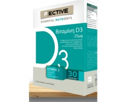 F Ective Essential Nutrients Βιταμίνη D3 Συμπλήρωμα διατροφής για την Υγεία των οστών και ενίσχυση ανοσοποιητικού 30tabs