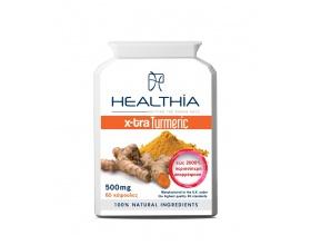 Healthia Xtra-Turmeric 500mg Ισχυρό αντιοξειδωτικό αντιφλεγμονώδες από Κουρκουμά  60caps